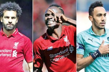 Mohamed Salah, Pierre-Emerick Aubameyang and Sadio Mane share the Golden Boot.