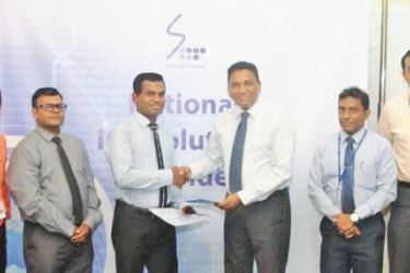 Sameera Ekanayake – Marketing Officer (SLT), Kelum Priyantha - Business Development Manager (SLT), K.T.L.S. Kaushalya – Legal & Marketing Consultant (Yechee Group), S.M.D. Subasinghe – Director (Yechee Group), Kiththi Perera – Chief Executive Officer (SLT), Imantha Wijekoon - Chief Sales & Regional Officer (SLT), Chethana Attanayake - General Manager (SLT), Shiromi Saputhanthri – Legal Officer (SLT)