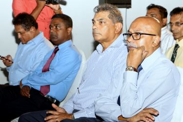 Officials at the launch of the Association of Sports Federations Society. Picture by Saman Sri Wedage
