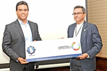 Kishu Gomes and Rohan Maskorala at the Colombo International Logistics Conference launch  Picture by Wimal Karunathilake