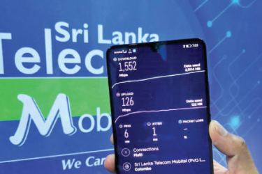 Image of Mobitel 5G showcasing speeds up to 1.5Gbps