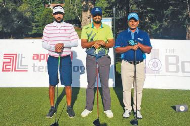 The joint leaders of the Sri Lanka Golf Lectra Grand Prix June edition.