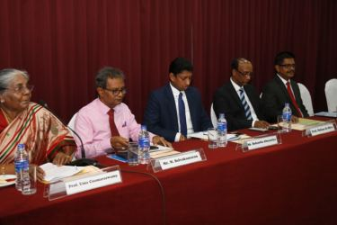 The panel of resource persons at the workshop.
