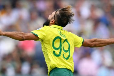 Tahir is well-known for his emotional celebrations. AFP
