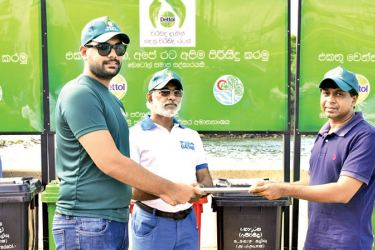 Tehan Samarasinghe, Product Group Manager (Dettol), Reckitt Benckiser (Lanka) Ltd, Rear Admiral (Retired) Rohana Perera, Chairman Marine Environment Protection Authority, Dr. Sudarshana Fernando,Chairman - Ceylon Fishery Harbours Corporation.