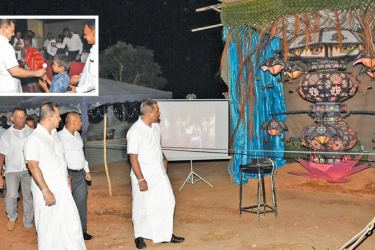 Lanterns were displayed and dansals held by the Kilinochchi Security Forces Camp. (Pictures under the courtesy of the Killinochchi Security Forces camp).