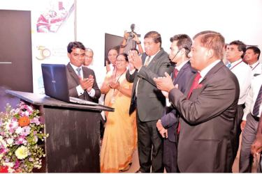 Ravi Karunanayake, Minister of Power, Energy and Business Development launching 'CEB Care' mobile app