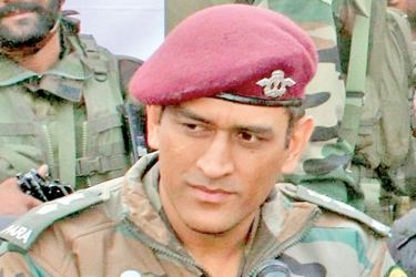 MS Dhoni an honorary lieutenant colonel in a reserve force parachute regiment.