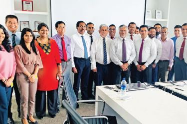 Ceyline Group Chairman Captain Ajith Peiris and senior officials of HIPG and Ceyline Group at the opening