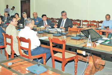 Prime Minister Ranil Wickremesinghe addressing the group of university vice-chancellors at the meeting. Picture courtesy: Prime Minister's Media Unit.