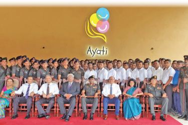 Sri Lanka Army members along with the Ayati Trustees and Partners