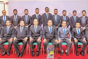 The Lanka Hospitals cricket team.