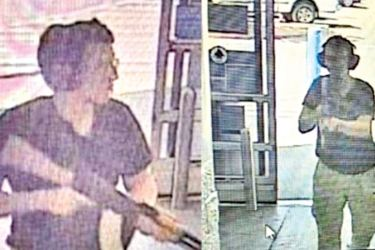 CCTV images said to be of the Texas Walmart store gunman.