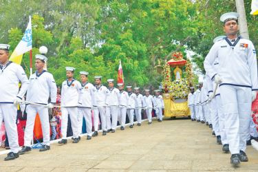 At the procession during the feast. Picture courtesy SL Navy