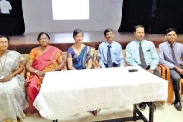 Guest Lecturer Head of Healthy Life Clinic and Diabetologist Dr. Kayanthri Periasamy with other officials at the screening program.