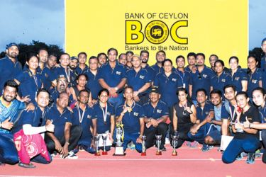 The winners of the BOC athletic meet.
