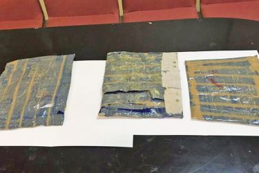The seized stock of cocaine