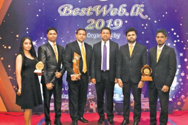LAUGFS Group IT teamwith LAUGFS Holdings Chairman, W. K. H. Wegapitiya at the BestWeb.lk 2019 Awards Ceremony