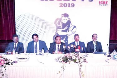 Members of the head table  :Dr. Sampath Kannangara -  CEO  ICBT Campus ,  Lasitha Gunaratne  -  President  Sri Lanka Rugby,  Dr. Jagath Alwis -  Chairman ICBT Campus,  Dilroy Fernando  -  Tournament Director , Anura Gamage  -  Director Marketing ICBT Campus  Picture by Vipula Amarasinghe