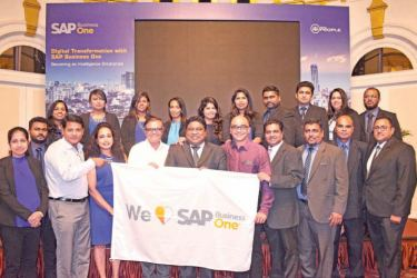 SAP Business One officials with PBSS top management and staff. Pictures by Sudath Malaweera