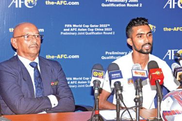 The Qualifying round two of the FIFA World Cup 2022 game between Sri Lanka and Turkmenistan will take place at the Race Course ground at 7.00 p.m. today.  This game will be of great importance for both teams to make it to the next round which will be decided after the completion of the second leg scheduled for 10 September.  Turkmenistan coach Mise Ante speaking said at a press conference held at the FFSL auditorium said that they arrived in the country after a ten-day visit to the UAE where they p