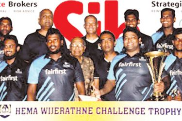 Cricket Sixes champions Fairfirst team.