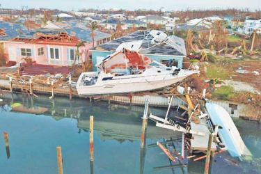 The devastation caused by Hurricane Dorian in the Bahamas.