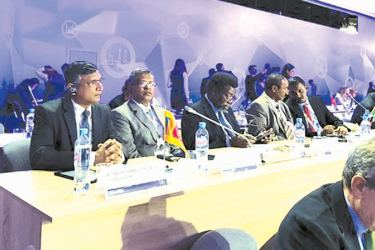 Auditor-General W.P.C. Wickramaratne and Deputy Auditor-General P.L.K. Perera at the congress.