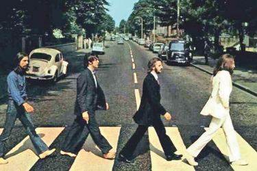 The  Beatles  legendary 'Abbey  Road'  album  cover.