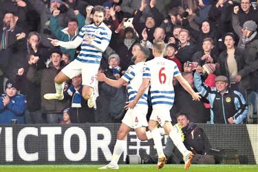 Charlie Austin scored his first league goal for Albion.