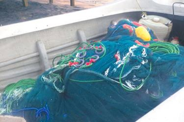 The banned nets that the Navy seized.