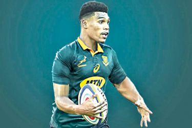 Damian Willemse injury replacement for Jesse Kriel.