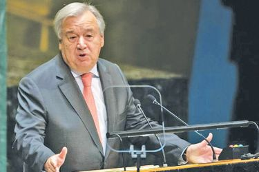 United Nations Secretary General Antonio Guterres has warned that the global body is in dire financial straits. - AFP