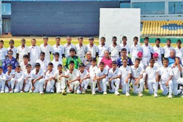 CCC School of Cricket - maroons and Silver, Great Academy - Monaragala and Lanka Cricket Academy Ampara teams with officials