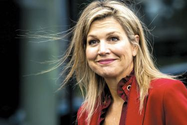 Queen Maxima of Netherlands leaves the fifth Global SME Finance Forum in Schiphol. - The forum focuses on global development of small and medium-sized enterprises (SMEs).
