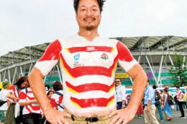 Meet the Rugby World Cup's body-painting superfan
