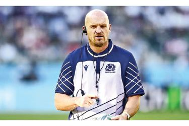 Scotland head coach Gregor Townsend during the warm up before the match