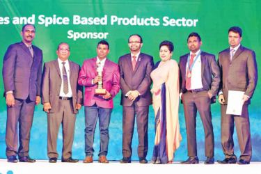 John Sea Foods officials with the award