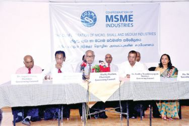 Founder members of COSMI at the launch. Picture by Saliya Rupasinghe
