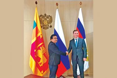 Agriculture Minister of the Russian Federation Dmitry Nikolayevich Patrushev welcomes Agriclture Minister P. Harrison.