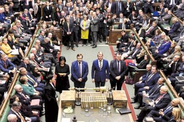 MPs voted for the December 12 election by a majority of 418.