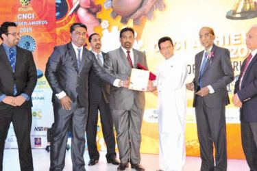 Lanka Special Steel Limited official receives the award