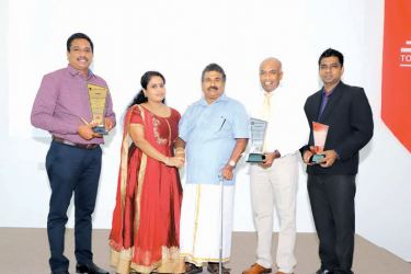Winners of the Annual Dealer Awards 2019 with S.R. Gnanam, Managing Director Tokyo Cement Company