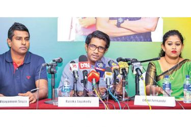 Representatives at the unveiling of NDF Presidential candidate Sajith Premadasa's Youth Charter on Friday.