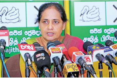 UNP Parliamentarian Dr. Thusitha Wijemanna speaks at the media conference yesterday. Picture by Saman Sri Wedage