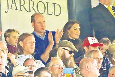 Kate and William took their eldest children, George and Charlotte, to their first football match last month