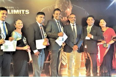 Winners of SLIM NASCO Awards along with Chandika Vitharana (Center), Senior General Manager Sales & Channel Development, Mobitel (PVT) Ltd.