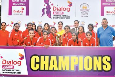 Victorious Kurunegala Schools team with champion trophy