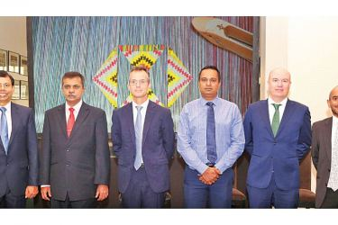 Mark Prothero, CEO HSBC Sri Lanka and Maldives with other officials at the event. Picture by Thushara Fernando