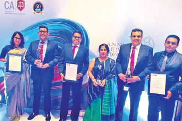 From Left: HNB Senior Manager- Strategic Planning, Priyanka Wijayaratne, HNB Deputy General Manager- Risk/ Chief Risk Officer/ Chief Information Security Officer, Damith Pallewatte, HNB Chief Operating Officer, Dilshan Rodrigo, HNB Chief Financial Officer, Anusha Gallage, HNB Senior Manager (Internal Audit), Murtaza Normanbhoy and HNB Officer-in-Charge Sustainable Business, Shanel Perera.
